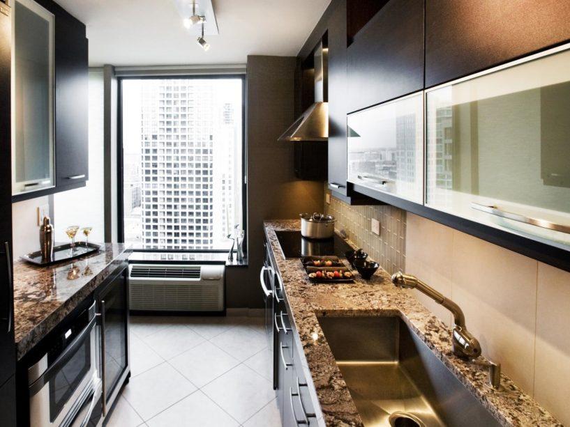 Простота и изящество маленькой кухни 6