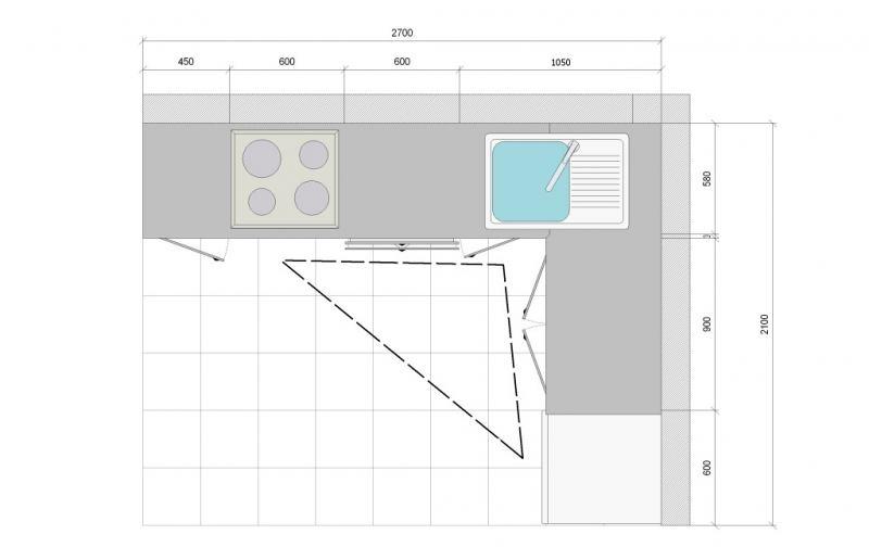 особенности планировки угловой кухни 3