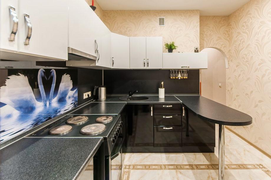 особенности планировки угловой кухни 8