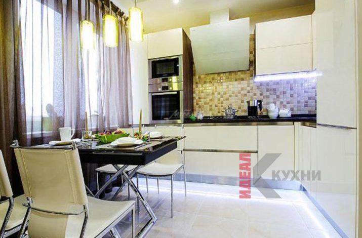 Кухни из МДФ крашенного фото