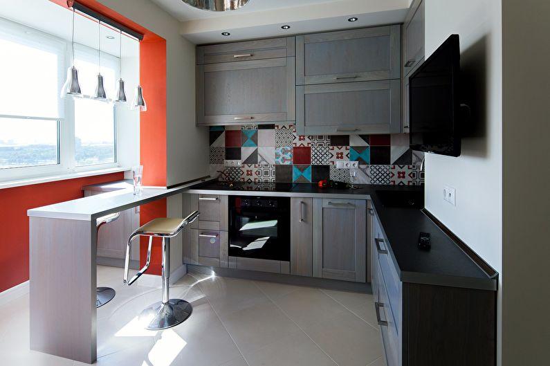 Совмещаем балкон с кухней