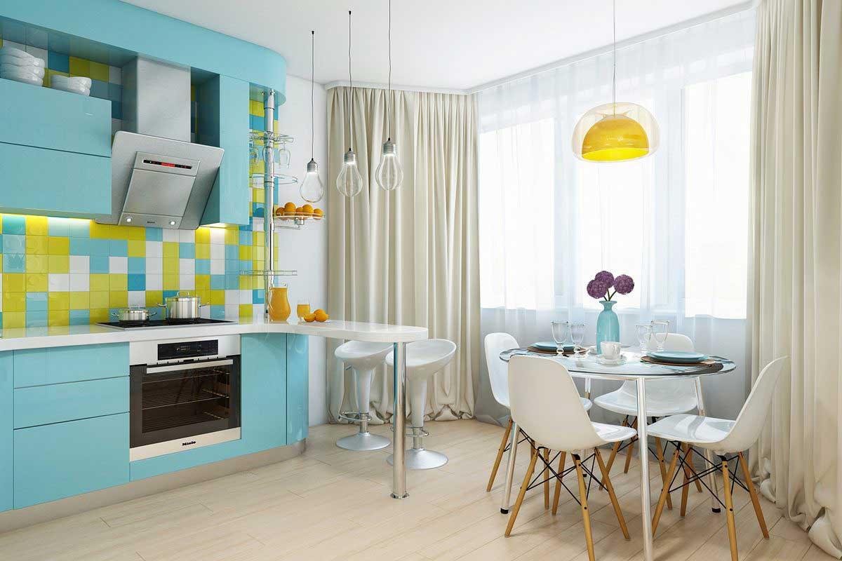 кухня с эркером 1