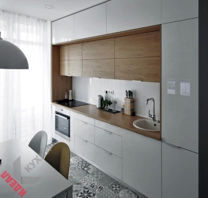 Еврокухня (кухня для квартиры-студии) фото и цены в Минске под заказ